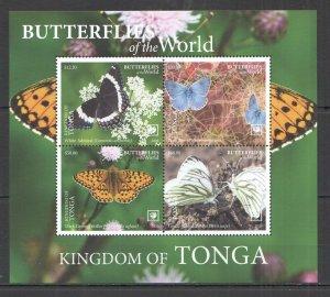 NW735 2020 TONGA BUTTERFLIES !!! SALE FLORA & FAUNA KB MNH