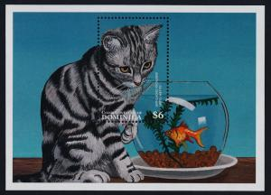Dominica 1942 MNH Cats, Fish