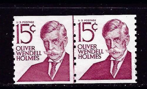 U S 1305E NH 1978 Oliver Wendell Holmes Coil Line Pair