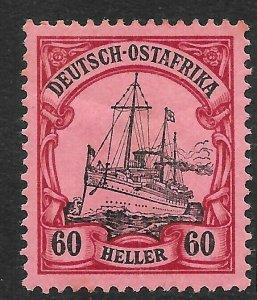 GERMAN EAST AFRICA SG33 1905 60h BLACK & CARMINE ON ROSE MTD MINT