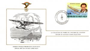 Upper Volta, Worldwide First Day Cover, Aviation