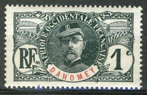French Dahomey 1906-07, 1c Faidherbe, Yv 18 MNH
