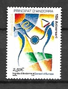 ANDORRA STAMPS. INGRES d'ANDORRA AL CONSELL d'EUROPA 2004, MNH