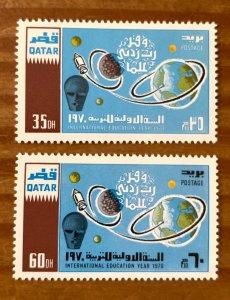 Qatar 1970 UNESCO, MNH. Scott 212-213, CV $12.00, Michel 419-420, CV €11.00