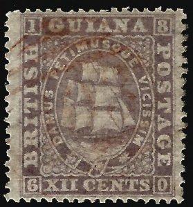 British Guiana  SG 113 Used F-VF hr ...Fill a key British Colony spot!
