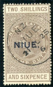 Niue 1923 KGV 2s6d grey-brown very fine used. SG 34. Sc 31.