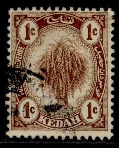MALAYSIA - Kedah GV SG15, 1c brown, FINE USED.