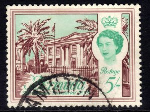 Bermuda 1962 - 68 QE2 5/-d Colonial Secretariat used SG 177 ( J1336 )