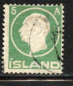 Iceland # 92, Used. CV $ 12.00