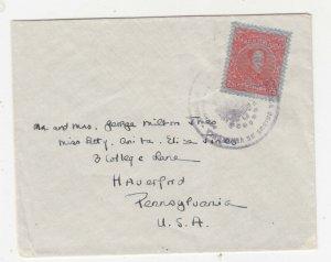 VENEZUELA, c1935 cover, 25c. with Burele to USA.