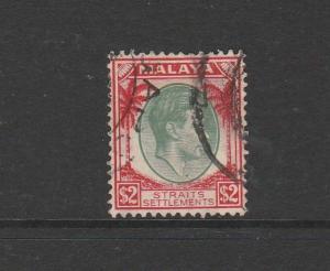 Straits Settlements 1937/41 Defs $2 Used SG 291