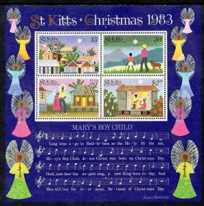 St. Kitts MNH S/S Christmas Mary's Boy Child1983 Read Description