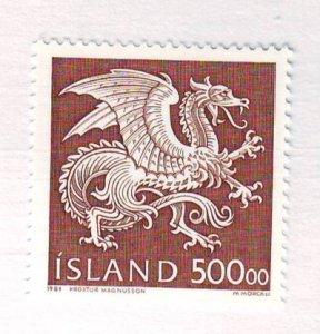 Iceland Sc 677 1989 500k Dragon Guardian Spirit stamp mint NH