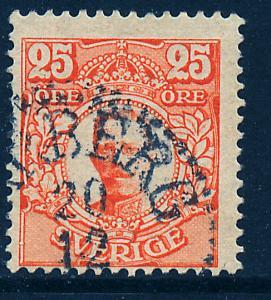 SWEDEN 84, 25o King Gustaf V, Used.