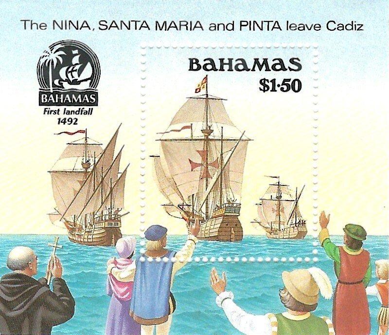 Bahamas 692   SS   Mint NH VF 1990 PD