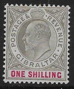 GIBRALTAR SG51 1903 1/= BLACK & CARMINE MTD MINT