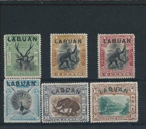 LABUAN 1900-02 SET OF SIX MM SG 111/116 CAT £140