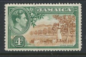 Jamaica  SG 127  - Mint light trace of hinge - see scan and details