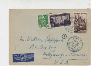 France 1952 Multiple Paris Cancels Airmail Different Stamps Cover to USA Rf32016