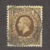 GREAT BRITAIN Sc# 220 USED FVF King George V 1sh
