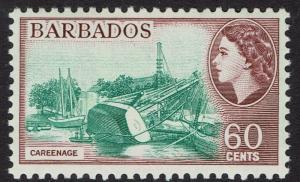 BRITISH HONDURAS 1953 QEII CAREENAGE 60C MNH **