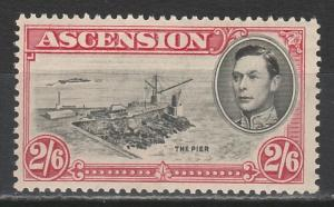 ASCENSION ISLAND 1938 KGVI THE PIER 2/6 PERF 13.5