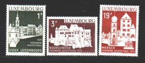 Luxembourg. 1975. 900-3 from the series. Architecture. MNH.