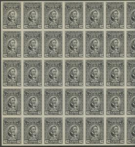 PUERTO RICO #RE47 FULL SHEET/50 62¢ RECITIFIED SPIRIT STAMPS BS8902