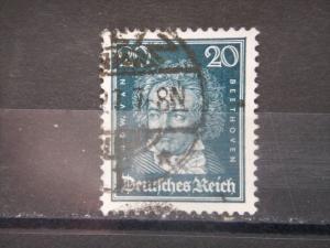 GERMANY, Empire, 1926, used 20pf, Ludwig van Beethoven, 357
