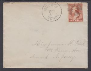 US Sc 210 on 1886 Cover w/ Enclosure, Geometric Fancy Cancel, to Newark, NJ
