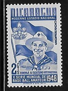 Nicaragua 1949 Boy scout Sc 718 MNH W7