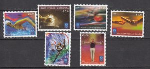 J26428  jlstamps 2004 greece set mnh #2104-9 sports, all checked