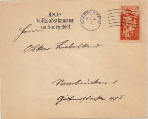 Germany - 60c [+20c] Anxiety Overprinted Volksabstimmung 1935 Semi-Postal 193...