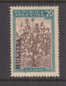 ARGENTINA, 1936 Cotton Plant, 20p. Brown & Blue, MUESTRA, lhm., slight crease.