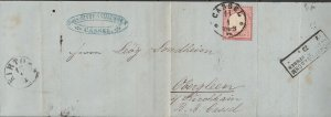 Germany - 11.1.1873 1gr as single franking on handmade cover  (5301)