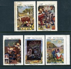 Wentz Ludwig Bechstein Complete Set of 5 Large Cinderella POSTER STAMPS (Lot W3)