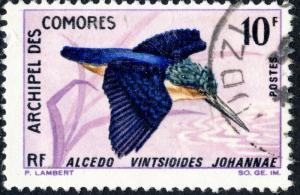 COMORES - 1967 - Yv.26/Mi.52 10fr Alcedo Vintsioides Johannal - Obl. TB