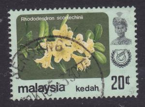 Malaysia -Kedah 1979 Flowers Rhododendron 20c -used