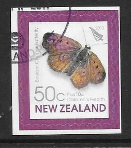 NEW ZEALAND SG3223 2010 BOLDER COPPER BUTTERFLY S/A FINE USED