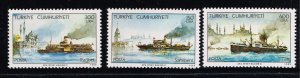 TURKEY Stamp  1989 Steamers MH STAMPS