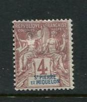 St Pierre #62 Mint
