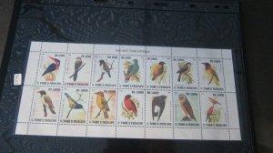 St. Thomas & Prince Islands 2007 Sc 1778 Bird set MNH