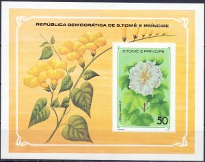 Sao Tome and Principe. 1979. bl33. Flora flowers. MNH.