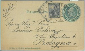85961 - ARGENTINA - POSTAL HISTORY - STATIONERY CARD to ITALY 1902 Geography map