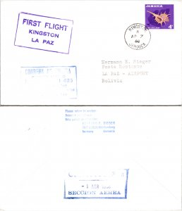 Jamaica, First Flight, Bolivia