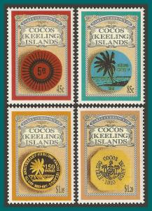 Cocos 1993 Early Currency, MNH 274-277,SG280-SG283