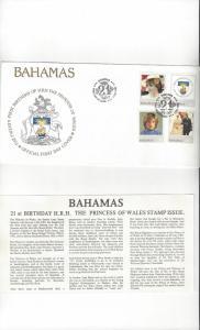 Bahamas 510-3 FDC Princess Diana Birthday