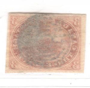 $ Canada Scott #4 used, VF-XF, very tiny corner crease LR