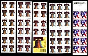 U.S. #4396a, 4125-4128 MINT BOOKLET PANES