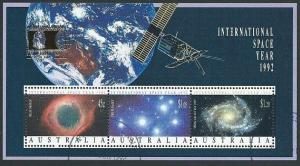 AUSTRALIA 1992 Space Year souvenir sheet opt COLUMBIAN EXPO fine used.....40945b